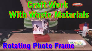 rotating photo frame craft work with waste materials learn