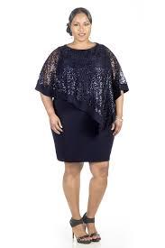 rm richards women u0027s navy plus size sequin lace poncho party dress