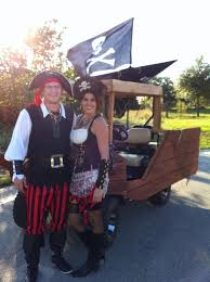 we transformed our golf cart into a pirate ship so neat cruising