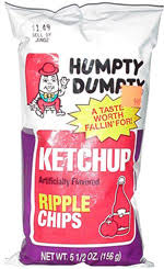Ripple Chips Dumpty Ketchup Artificially Flavored Ripple Chips