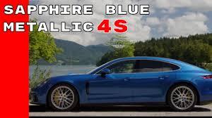 burgundy porsche panamera 2017 porsche panamera 4s sapphire blue metallic youtube