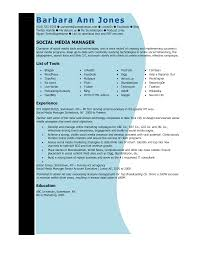 Resume Sample For Marketing Executive Social Media Manager Resume Sample Event Manager Resume Example