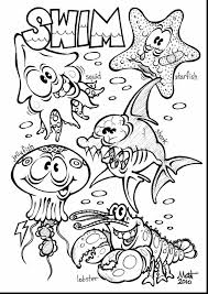 beautiful coloring page sea ocean animals with sea animal coloring