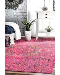 Pink 8x10 Rug Summer Sale Nuloom Celina Floral Mandala Rug 8 U0027 X 10 U0027 Pink