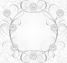 Invitation Card Border Jewelry Border On White Lace Background Invitation Card Royalty