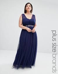 Navy Blue Lace Dress Plus Size Little Mistress Jumpsuit With Embellished Necklace Little Mistress