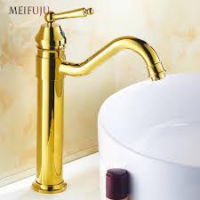 vintage antique bathroom faucet black chrome gold tap tall basin