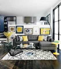 canap gris et noir deco salon blanc et noir couleur mur blanche decor en decoration