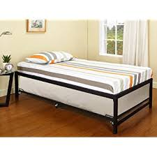 amazon com twin size day bed daybed frame with roll out trundle