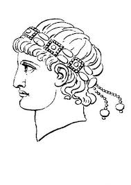 head figure ancient rome caesar coloring netart