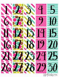 print calendar numbers free meses y días pinterest read