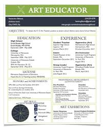 Resume For Teacher Sample by A Resume For The Modern Art Teacher The Art Of Ed
