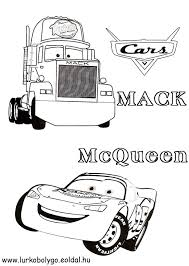 disney mack and mcqueen coloring pages cars birthday party