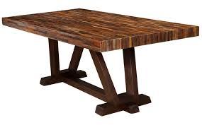 dining room wondrous rectangular acacia wood dining table for six