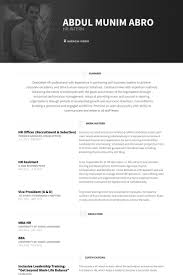 Sample Resume For Hr Assistant Hr Officer Resume Samples Visualcv Resume Samples Database