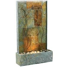 bedrock falls wall and tabletop outdoor fountain hayneedle