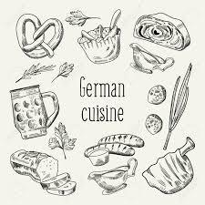 german cuisine menu german traditional food outline doodle germany cuisine
