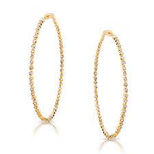yellow gold earrings king jewelers large yellow gold diamond hoop earrings king