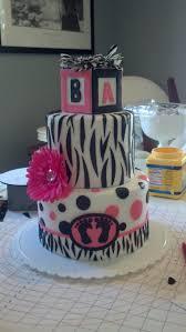 pink and black baby shower cake cake pinterest black