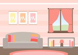 cartoon apartment livingroom interior house room stock