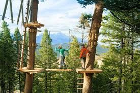 jackson hole zip line u0026 ropes course snow king mountain