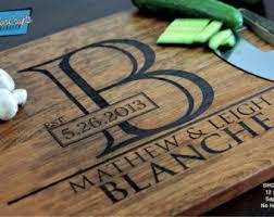 engraved cutting board wedding gift personalized cutting board engraved cutting board
