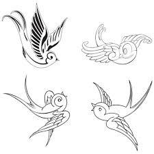 swallow bird tattoo designs outline stencils tattoo 4 me clip