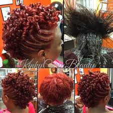 mwahahwk hairstule done using kinky new color with a flat twist rodded mohawk hair styles by kinky