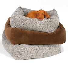 Cave Beds For Dogs Bowsers Platinum Series Microvelvet Donut Dog Bed Hayneedle