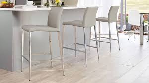 grey kitchen bar stools modern bar stool black or white elegant chrome tapered legs grey bar