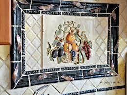 ceramic tile murals for kitchen backsplash