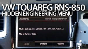 how to enter hidden engineering red menu in rns 850 vw touareg