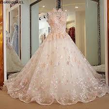 pink wedding dress ls21880 pink wedding dress backless high neck gown