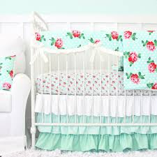 Design Crib Bedding S Mint Baby Bedding Caden