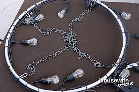 Outdoor Chandelier Diy Diy Outdoor Chandelier Housewife Eclectic