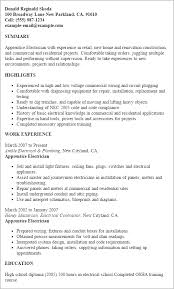 Apprentice Electrician Resume Samples by Residential Electrician Resume U2013 Template Design
