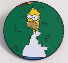 homer homer in bush simpsons enamel pin u2013 pindependent pinbacks
