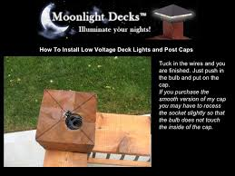 how to install low voltage deck lights and post caps 17 728 jpg cb u003d1233618324