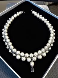 pearls beads necklace images Beaded decoration necklace with pearls shop online on jpg