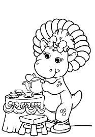 coloring barney coloring pages 3