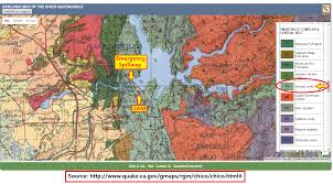 Oroville Ca Map Geologic Map Of Oroville Shows That Surrounding Rock Is Volcanic