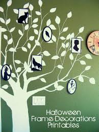 Halloween Printable Stories by Framed Creepy Silhouette Decorations Free Halloween Printable