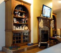 Arched Bookcase Wall Unit Custom Arched Fluting Capital Kitchen Refacing