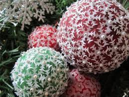 paper and bead ornaments