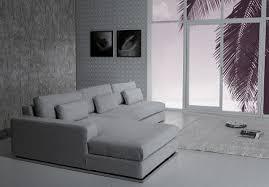 Light Grey Sectional Couch Divani Casa Ashfield Modern Fabric Sectional Sofa