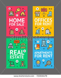 building house home apartment rent flyer stock vector 721322548