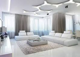 decoration minimalist modern living room with grey wall color