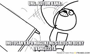 Flip Table Meme - ung gutom kana troll table flip meme generator captionator