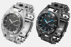 leatherman bracelet tool images Leatherman tread tempo adds a watch to the bracelet multi tool jpg