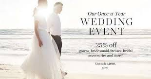 wedding sale j crew s once a year wedding event sale is on